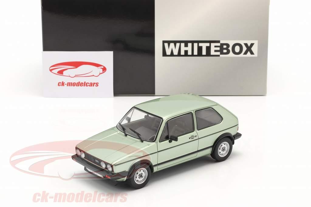 Volkswagen VW Golf I GTI Année de construction 1983 vert clair métallique 1:24 WhiteBox