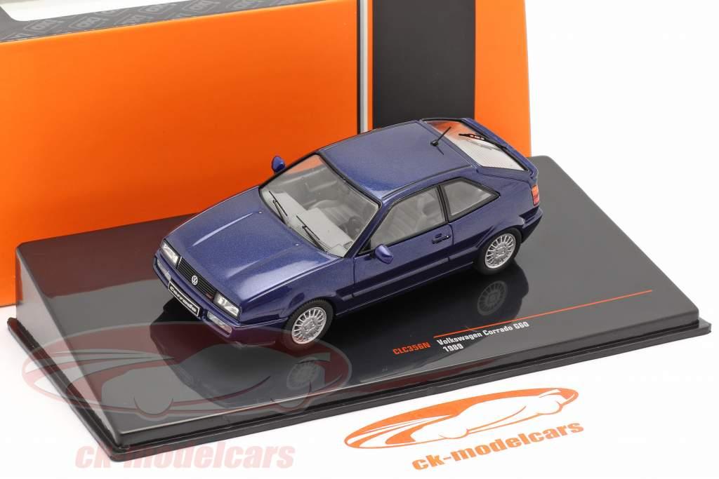 Volkswagen VW Corrado G60 Année de construction 1989 bleu foncé 1:43 Ixo
