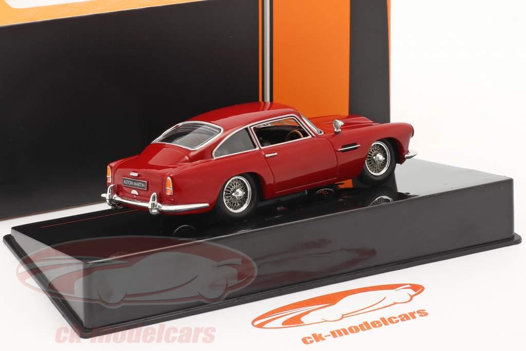 Aston Martin DB4 Coupe RHD Año de construcción 1958 oscuro rojo 1:43 Ixo