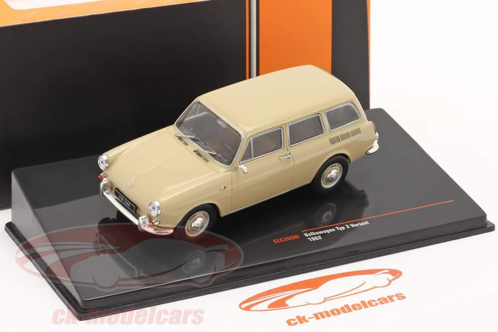 Volkswagen VW 1500 Variant Type 3 Année de construction 1962 beige 1:43 Ixo