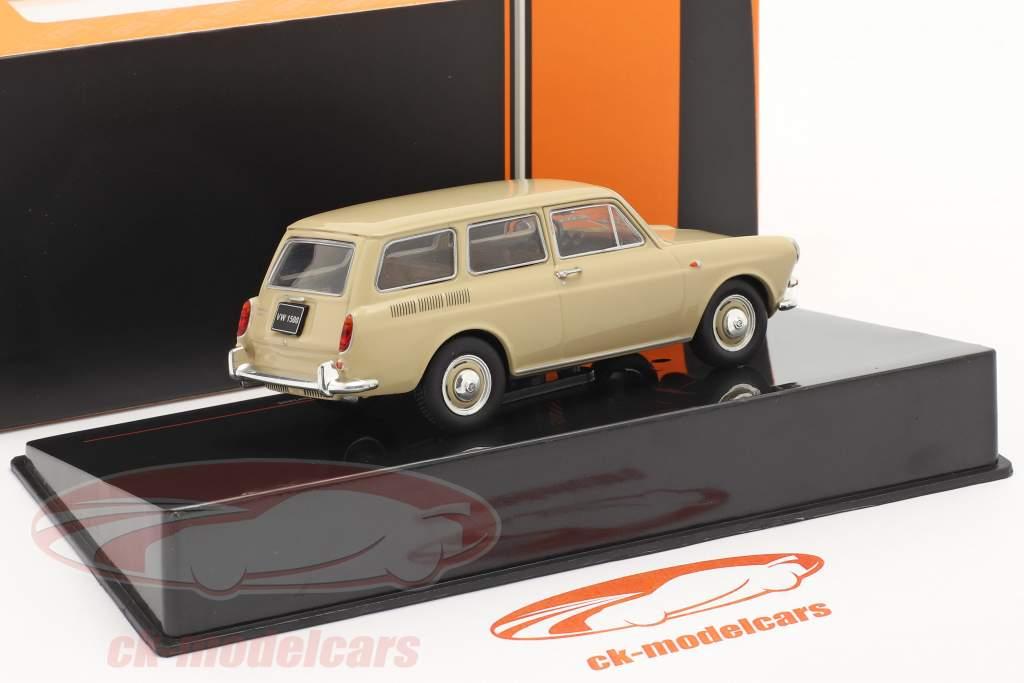 Volkswagen VW 1500 Variant Type 3 Ano de construção 1962 bege 1:43 Ixo