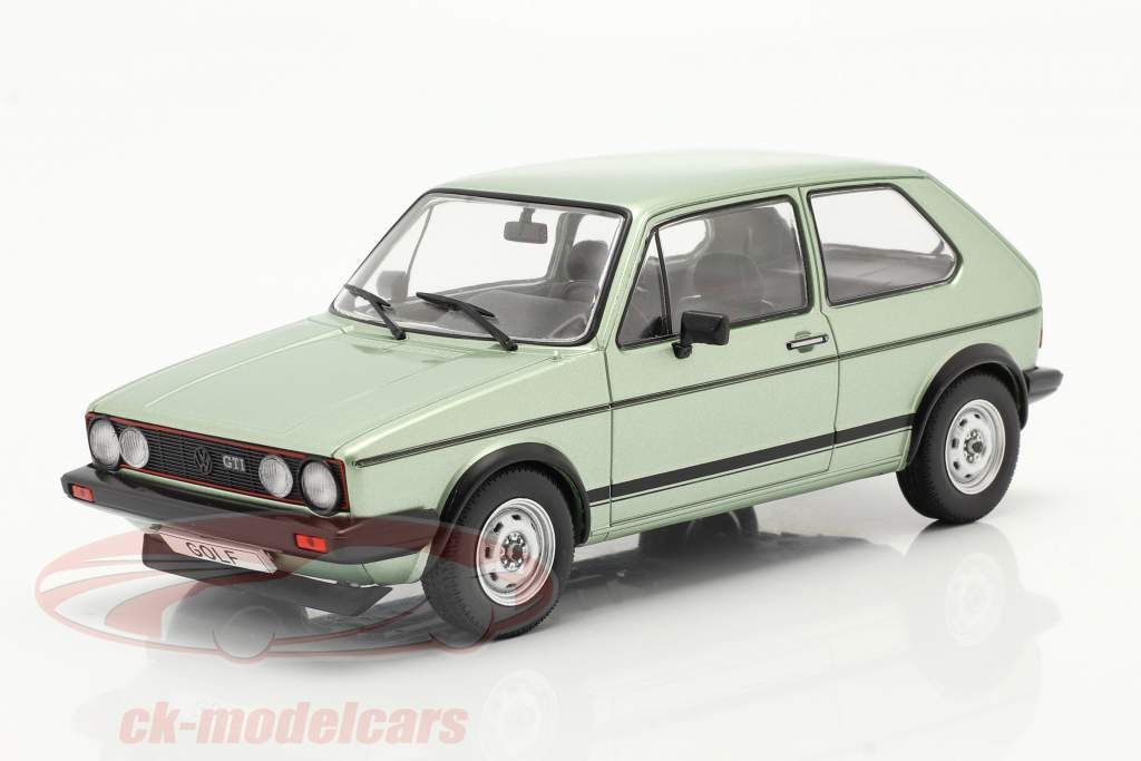 Volkswagen VW Golf I GTI year 1983 light green metallic 1:24 WhiteBox