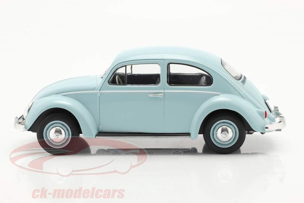 Volkswagen VW Beetle year 1960 light blue 1:24 WhiteBox