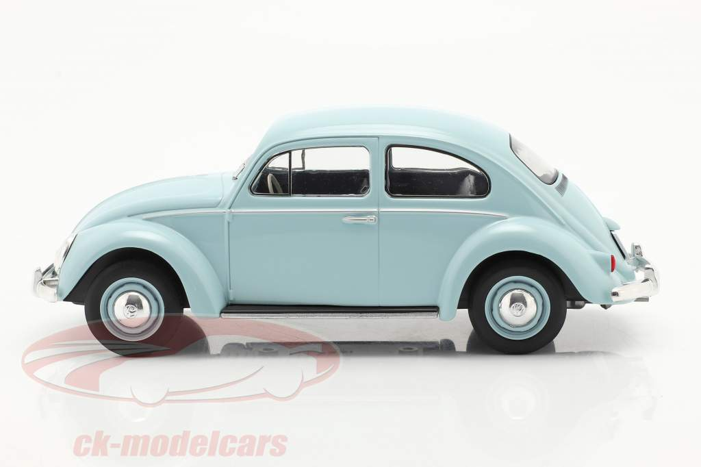 Volkswagen VW Scarabée Année de construction 1960 Bleu clair 1:24 WhiteBox