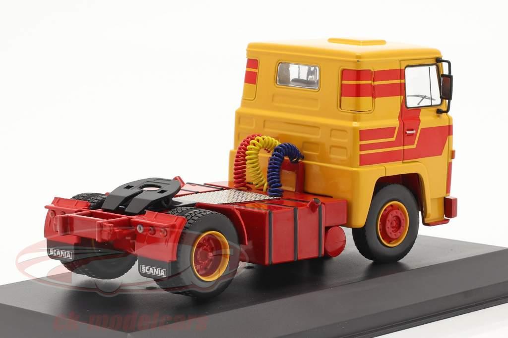 Scania LBT 141 Byggeår 1976 gul / rød 1:43 Ixo
