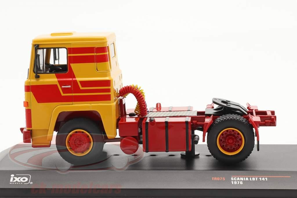 Scania LBT 141 Année de construction 1976 jaune / rouge 1:43 Ixo