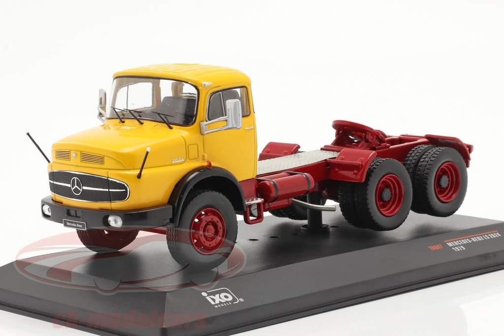 Mercedes-Benz LS 2624 Année de construction 1979 jaune / rouge foncé 1:43 Ixo