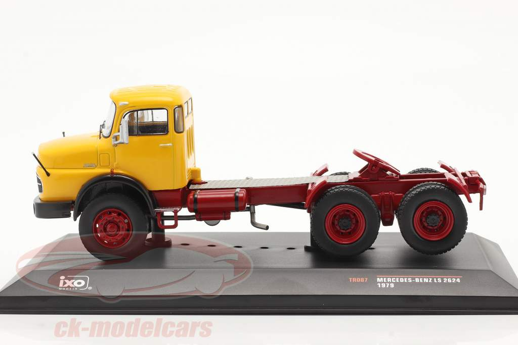Mercedes-Benz LS 2624 Baujahr 1979 gelb / dunkelrot 1:43 Ixo