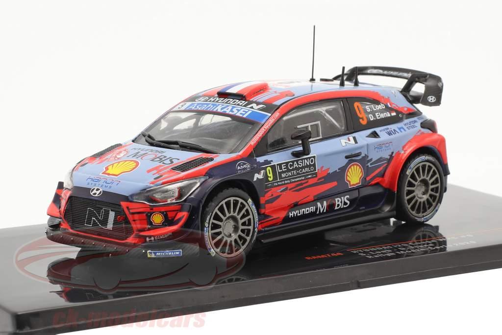 Hyundai i20 Coupe WRC #9 Rallye Monte Carlo 2020 Loeb, Elena 1:43 Ixo