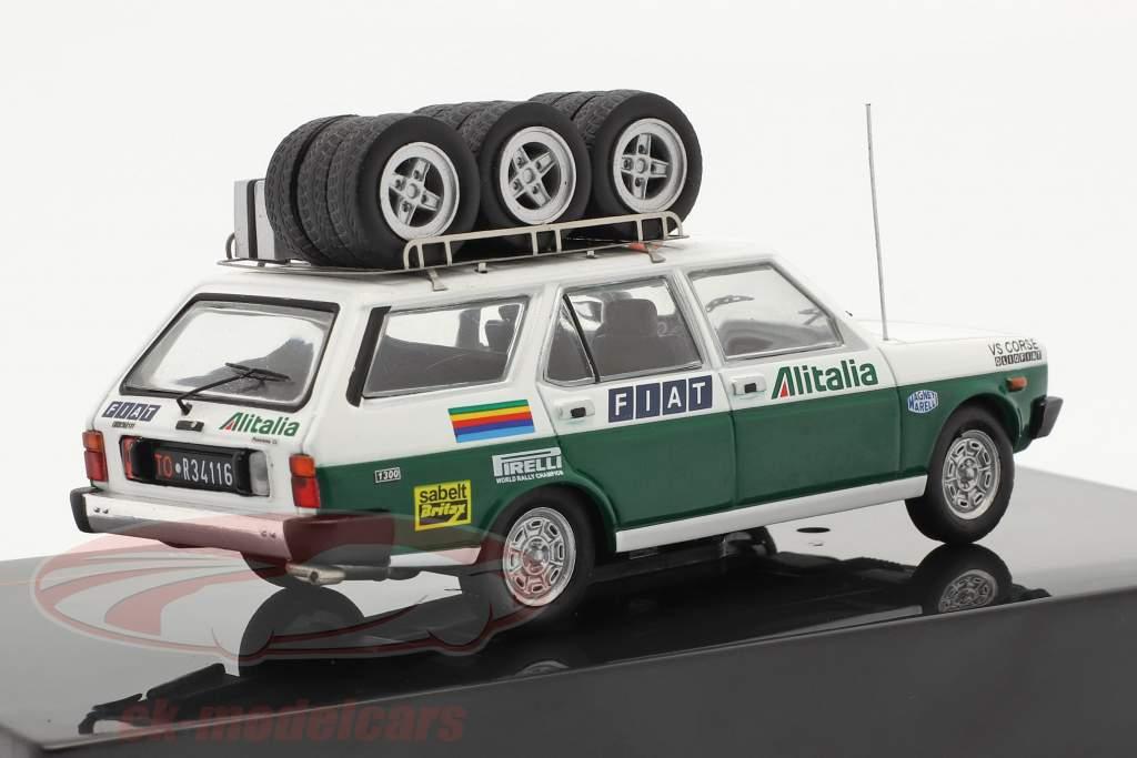 Fiat 131 Panorama Rallye Assistance Alitalia 1977 blanc / vert 1:43 Ixo