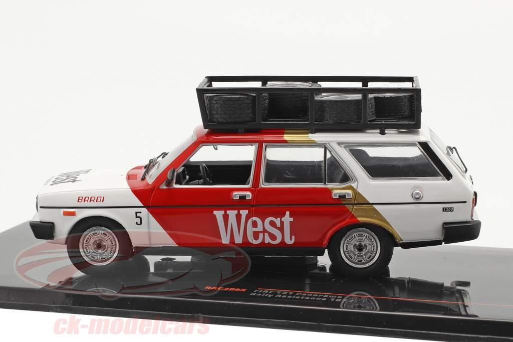 Fiat 131 Panorama Rallye Assistance Tre Gazzelle 1977 red / White 1:43 Ixo