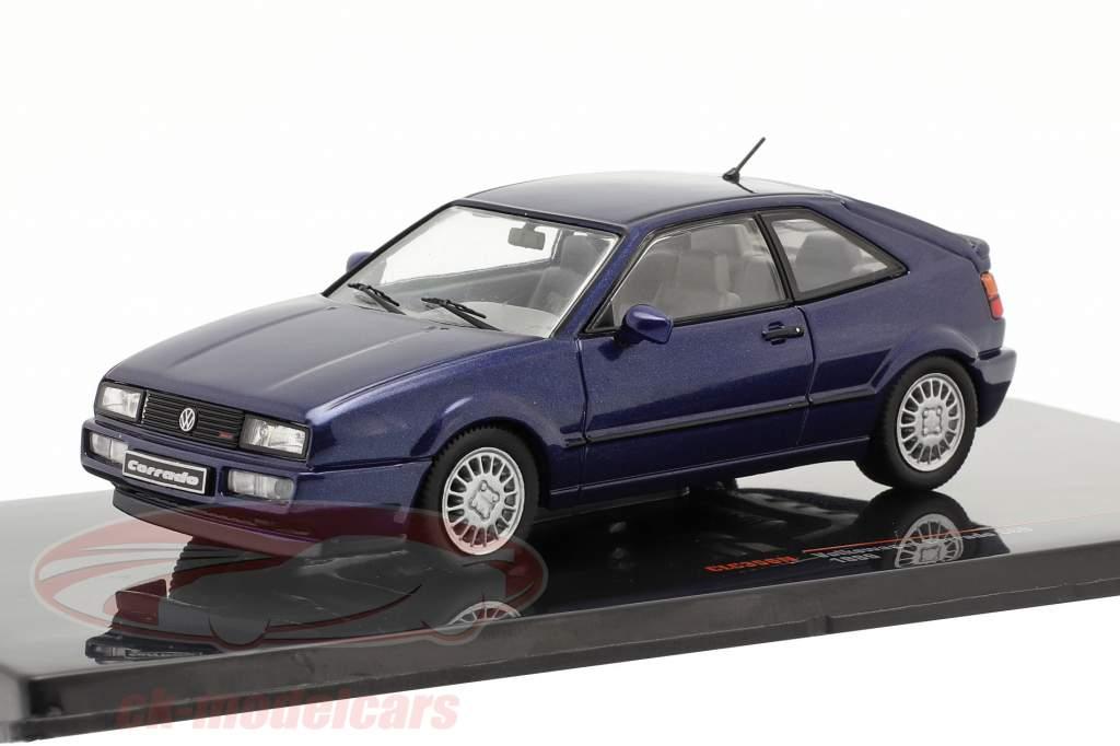 Volkswagen VW Corrado G60 Anno di costruzione 1989 blu scuro 1:43 Ixo