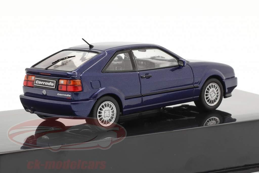 Volkswagen VW Corrado G60 Byggeår 1989 mørkeblå 1:43 Ixo