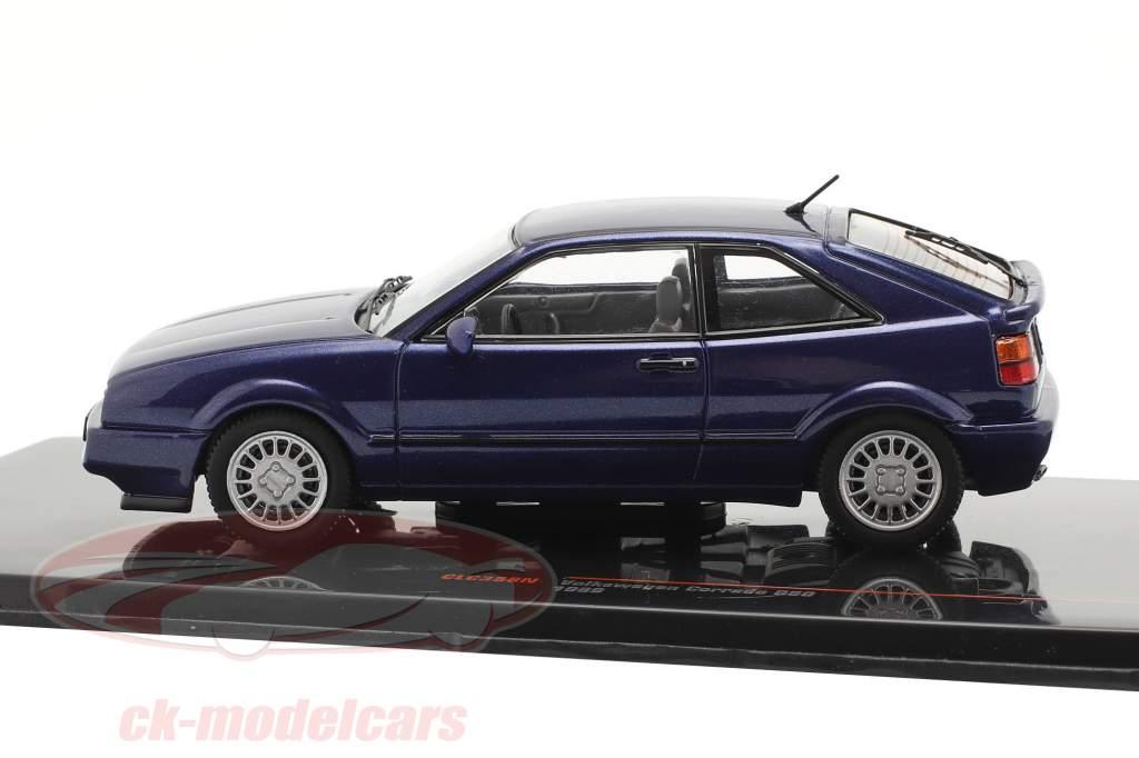 Volkswagen VW Corrado G60 Bouwjaar 1989 donkerblauw 1:43 Ixo