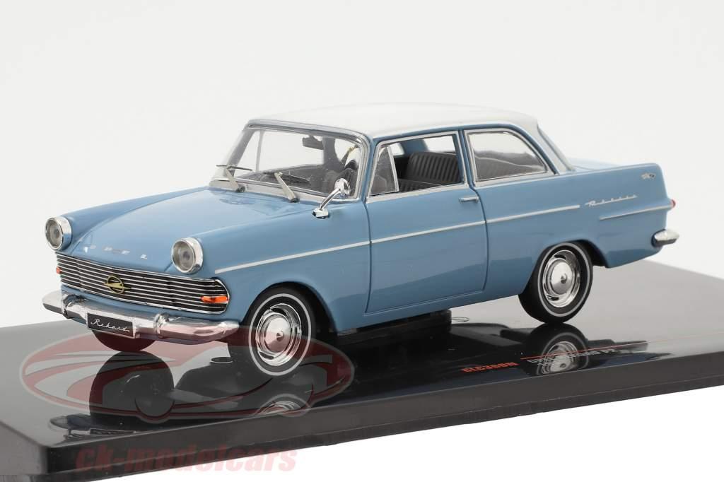 Opel Rekord P2 Año de construcción 1961 Azul claro / blanco 1:43 Ixo
