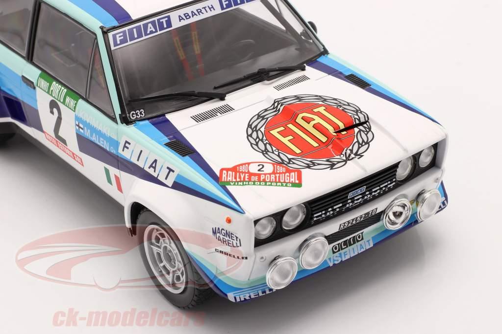 Fiat 131 Abarth #2 2e Rallye le Portugal 1980 Alen, Kivimaki 1:18 Ixo