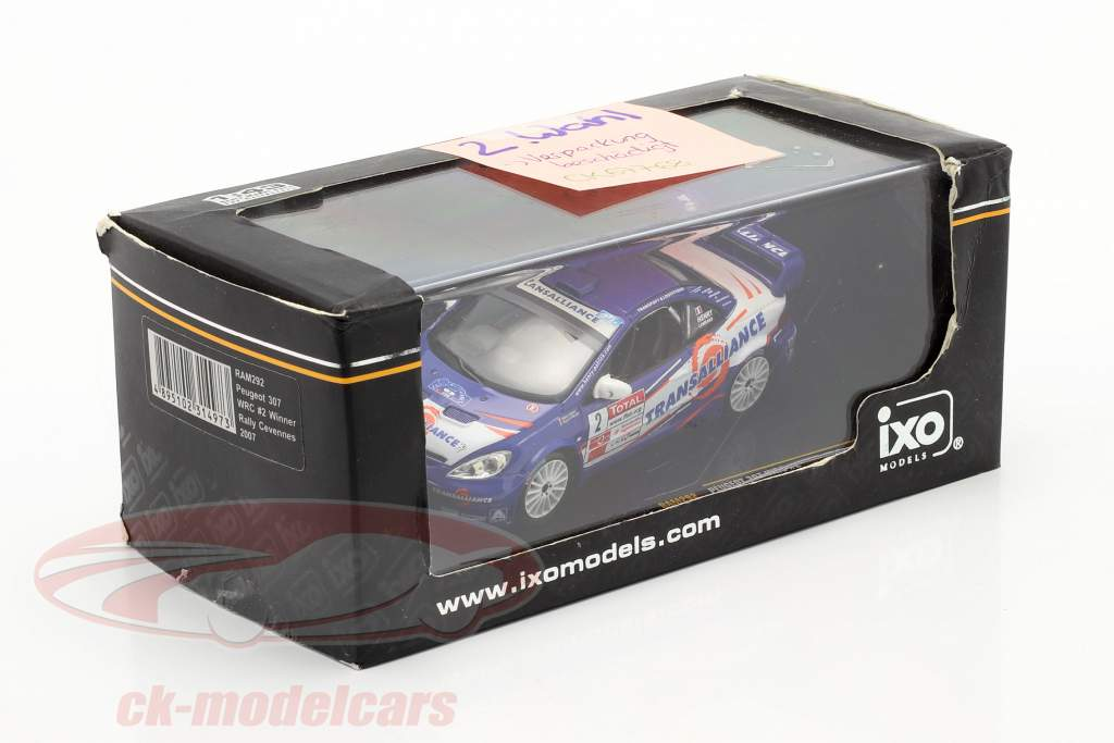 Peugeot 307 WRC #2 vincitore rally Cevennes 2007 Henry, Lombard 1:43 Ixo / 2. scelta