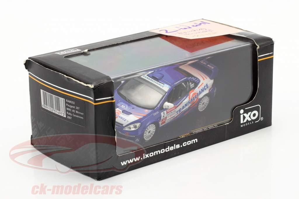 Peugeot 307 WRC #2 winner rally Cevennes 2007 Henry, Lombard 1:43 Ixo / 2nd choice