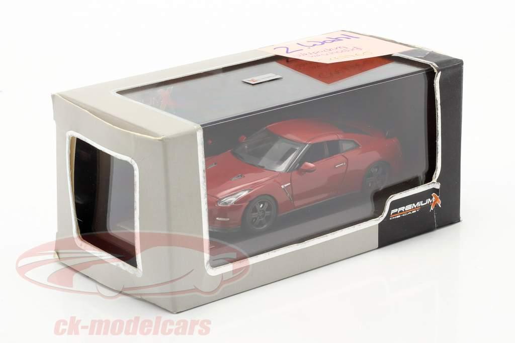 Nissan GT-R Preto Edição ano 2014 vermelho 1:43 Premium X / 2ª escolha