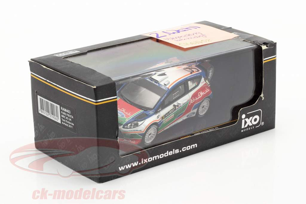 Ford Fiesta WRC #3 UK test Kirkbride Airfield 2011 Simoncelli 1:43 Ixo / 2. scelta