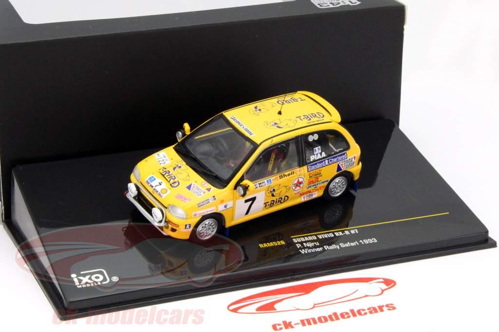 Subaru Vivio RX-R #7 winner rally Safari 1993 Njiru 1:43 Ixo / 2nd choice