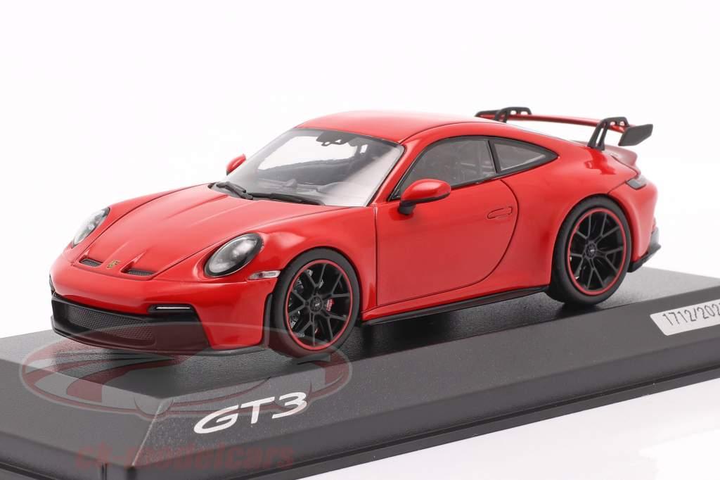 Porsche 911 (992) GT3 Anno di costruzione 2021 guardie ✔ rosso 1:43 Minichamps
