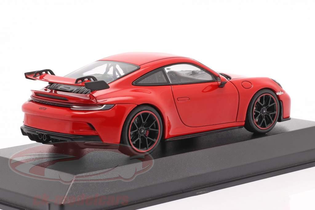 Porsche 911 (992) GT3 Byggeår 2021 vagter rød 1:43 Minichamps