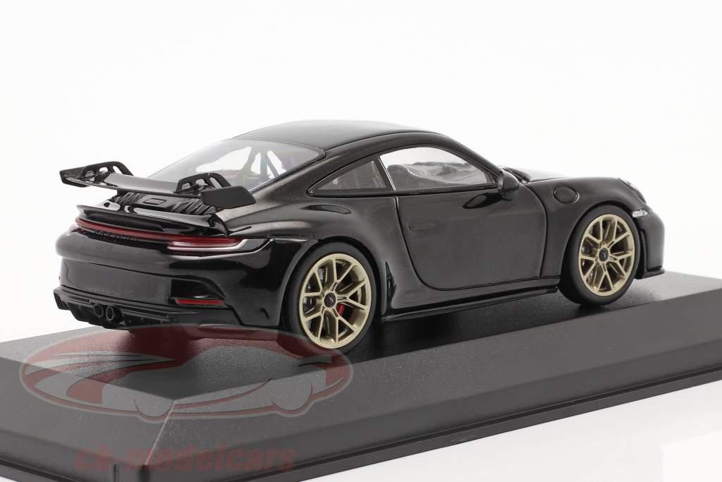 Porsche 911 (992) GT3 Ano de construção 2021 preto profundo metálico 1:43 Minichamps