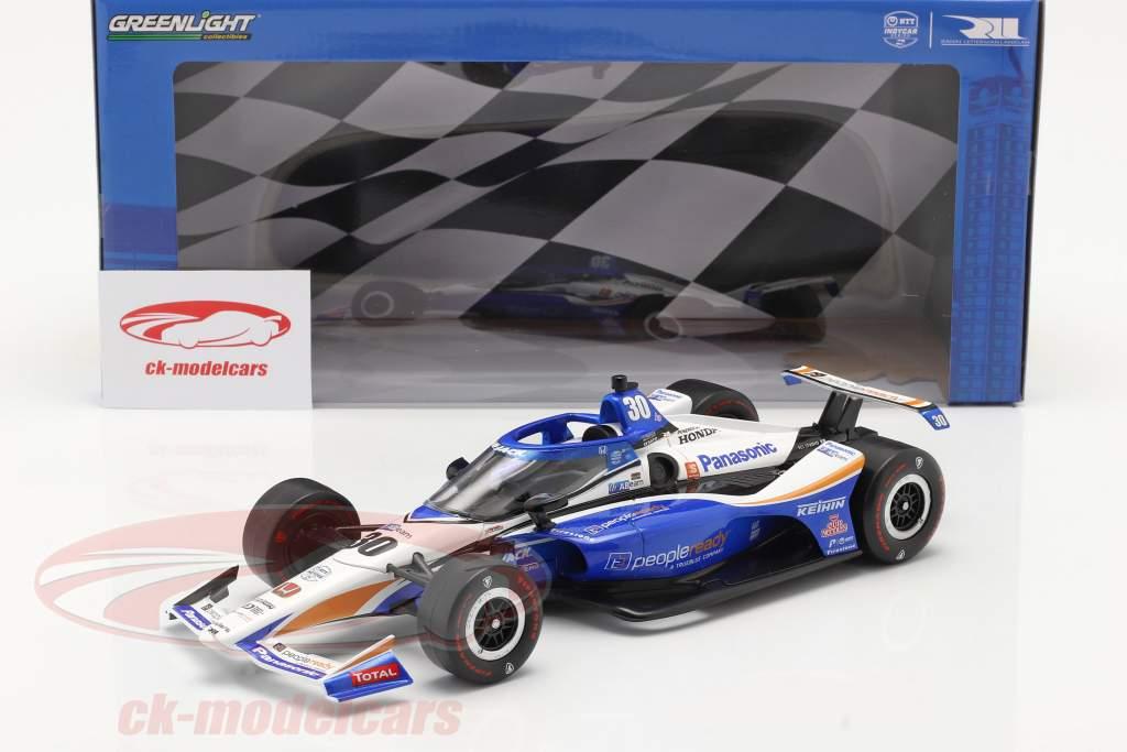 Takuma Sato Honda #30 Winnaar Indy 500 IndyCar Series 2020 1:18 Greenlight