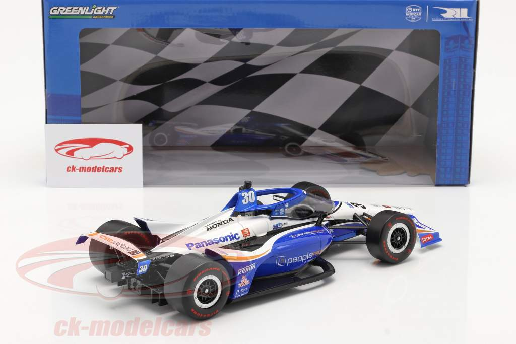 Takuma Sato Honda #30 Vencedora Indy 500 IndyCar Series 2020 1:18 Greenlight