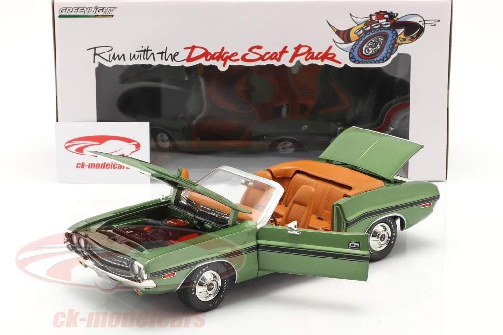 Dodge Challenger R/T Convertible Année de construction 1970 vert métallique 1:18 Greenlight