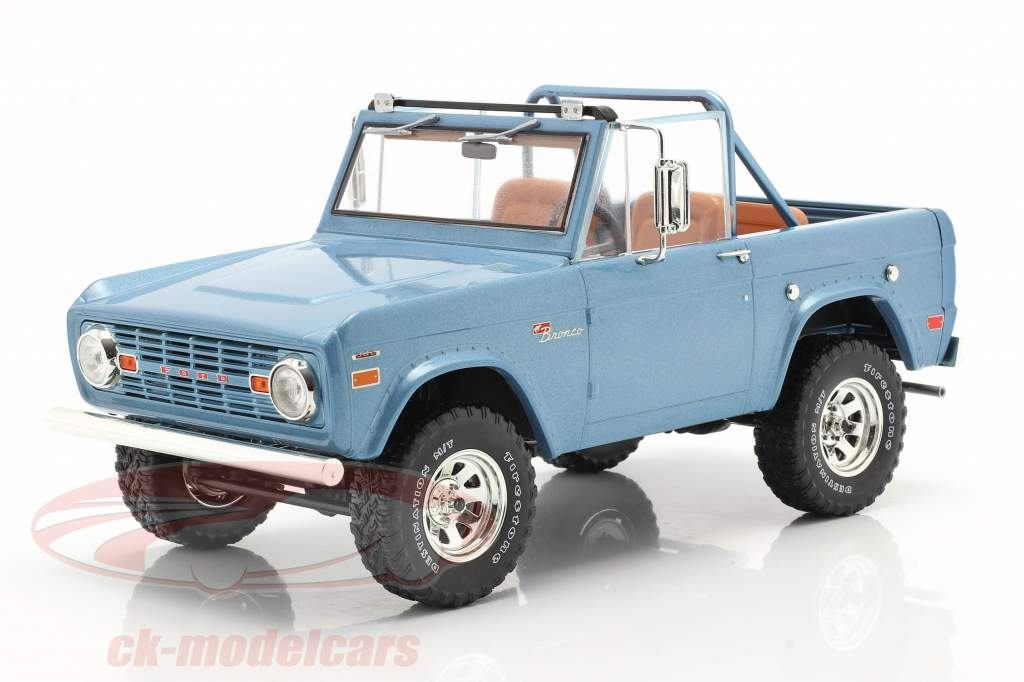 Ford Bronco Sport Byggeår 1969 Lyseblå 1:18 Greenlight