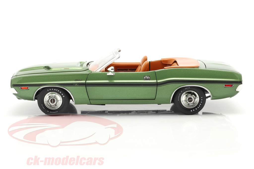Dodge Challenger R/T Cabriolet Byggeår 1970 grøn metallisk 1:18 Greenlight