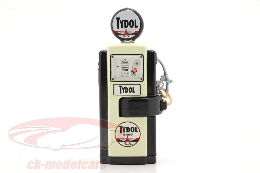 Wayne 100-A Tydol Gas pump 1948 black / white 1:18 Greenlight