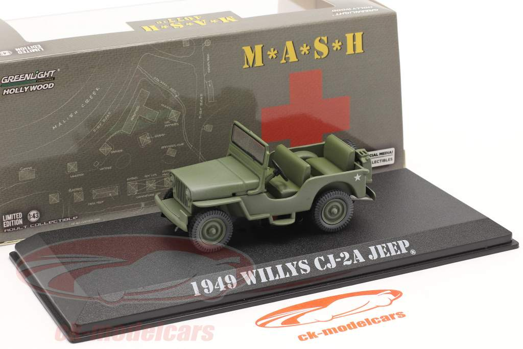 Willys Jeep CJ-2A 1949 TV serier M*A*S*H (1972-83) oliven 1:43 Greenlight