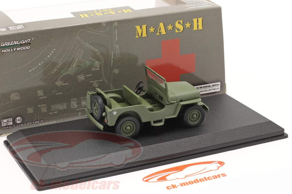 Willys Jeep CJ-2A 1949 TV series M*A*S*H (1972-83) olive 1:43 Greenlight