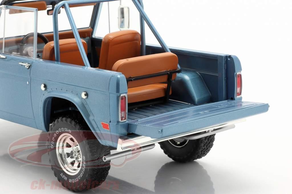 Ford Bronco Sport year 1969 light blue 1:18 Greenlight
