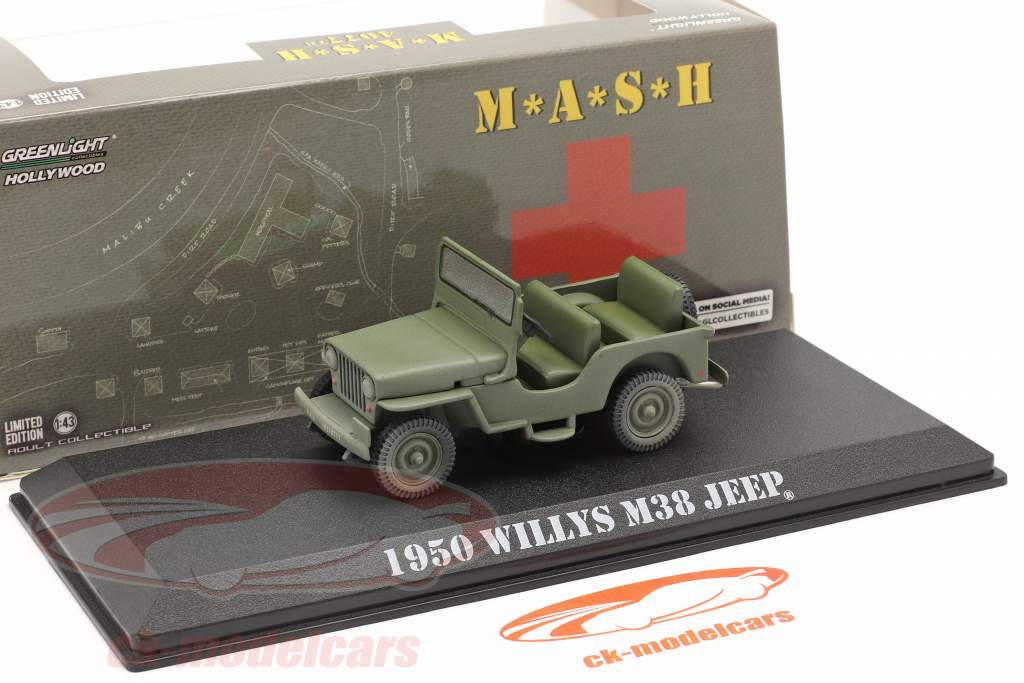 Jeep Willys M38 1950 TV series M*A*S*H (1972-83) olive 1:43 Greenlight