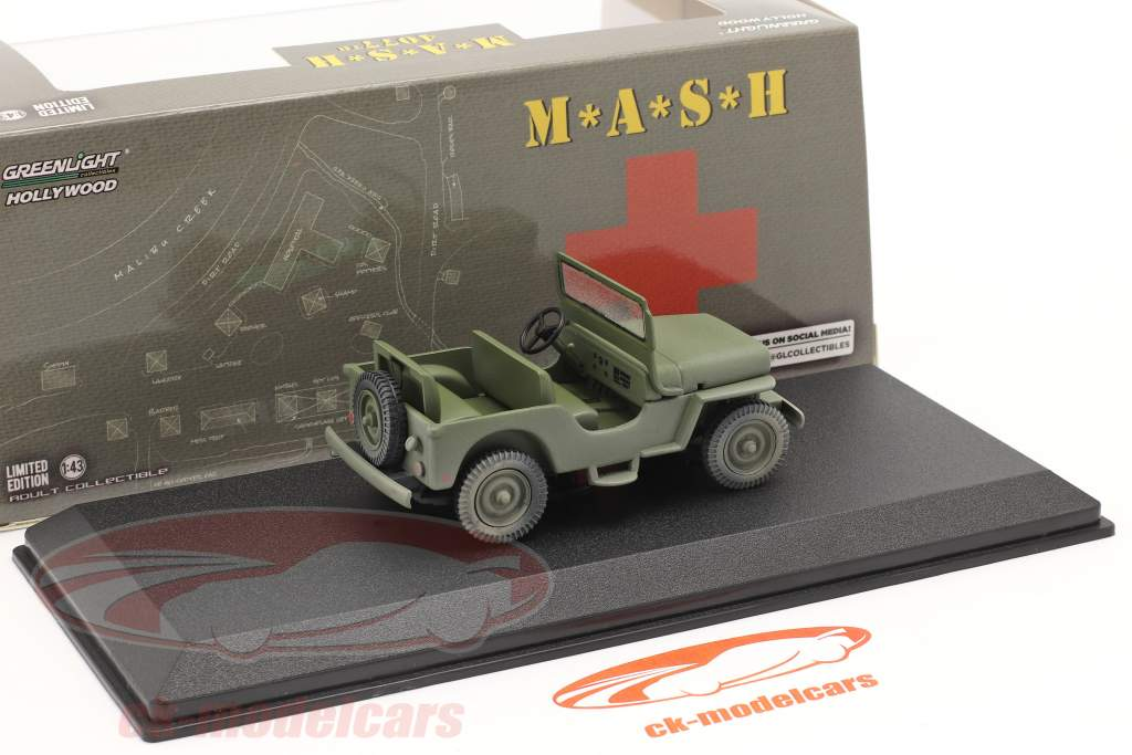 Jeep Willys M38 1950 serie TV M*A*S*H (1972-83) oliva 1:43 Greenlight