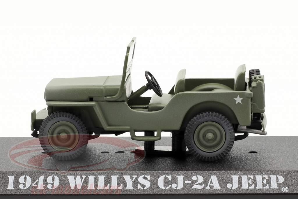 Willys Jeep CJ-2A 1949 séries de TV M*A*S*H (1972-83) Oliva 1:43 Greenlight