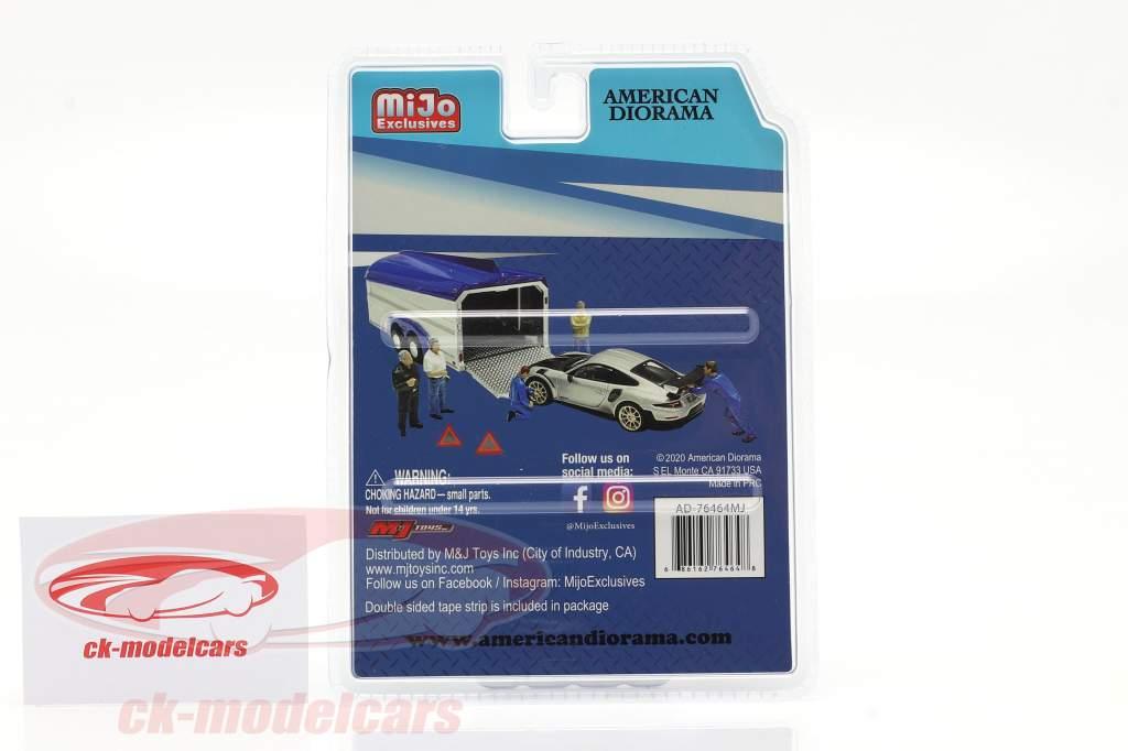 Auto Transporter Crew Set di figure 1:64 American Diorama