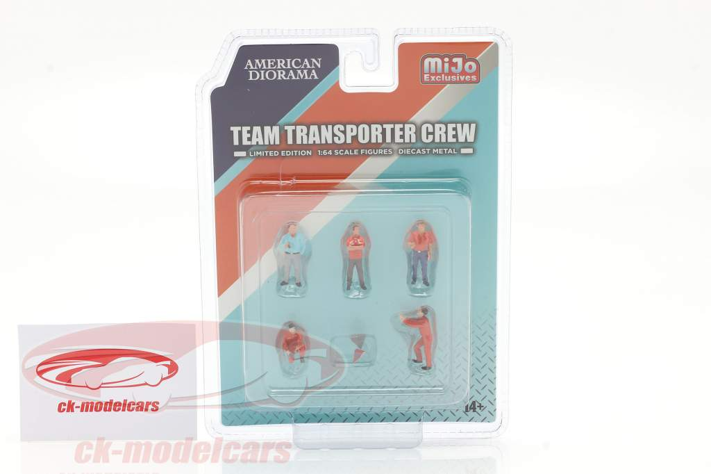Team Transporter Crew Figuren-Set 1:64 American Diorama