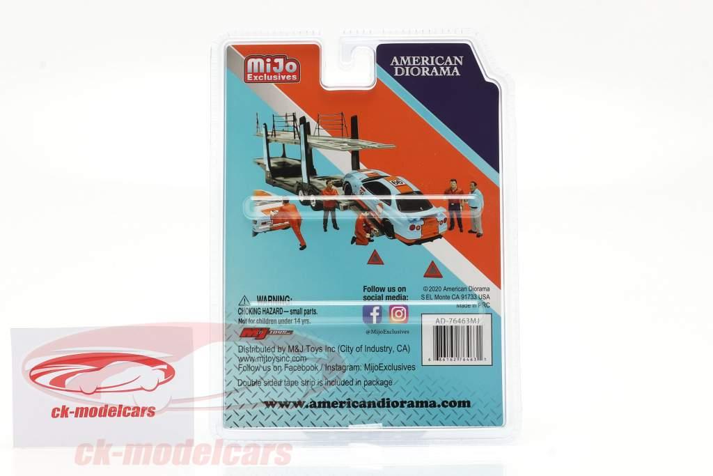 Team Transporter Crew Conjunto de figuras 1:64 American Diorama