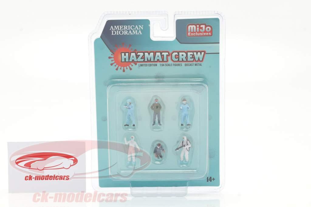 Hazmat Crew Figure set 1:64 American Diorama