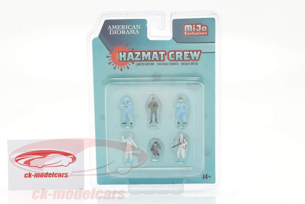 Hazmat Crew Figuren-Set 1:64 American Diorama
