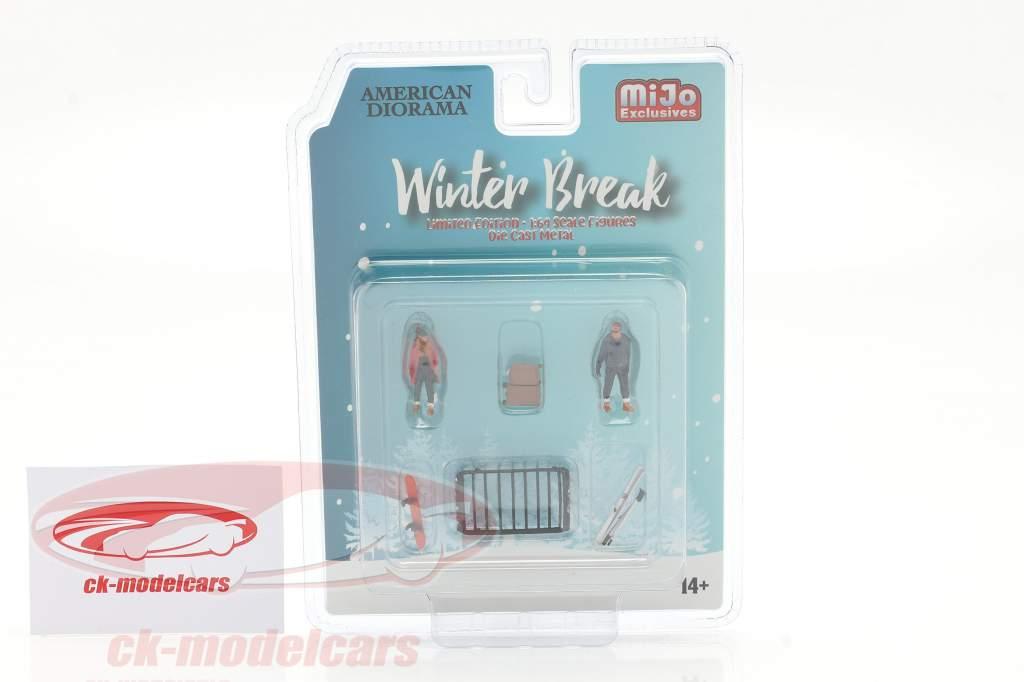 Winter Break Set di figure 1:64 American Diorama