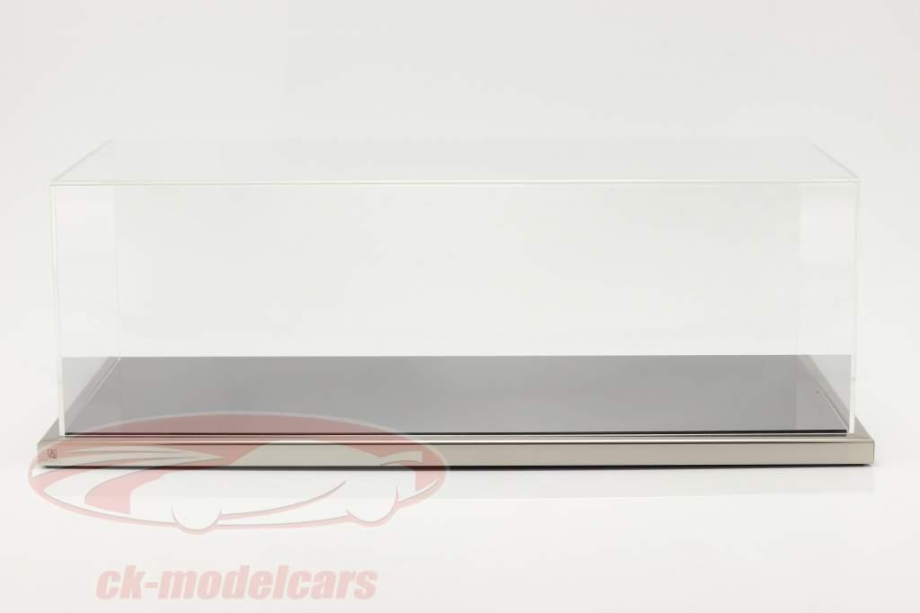 Haute qualité acrylique Vitrine Dieppe Avec Base acrylique / métal noir / argent 1:8 Atlantic