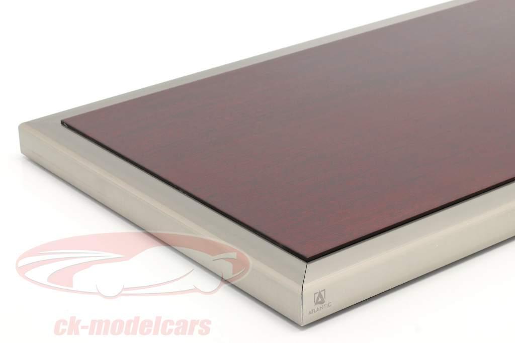 Høj kvalitet akryl Udstillingsvindue Goodwood Med Træ / metalbase mahogni / sølv 1:12 Atlantic