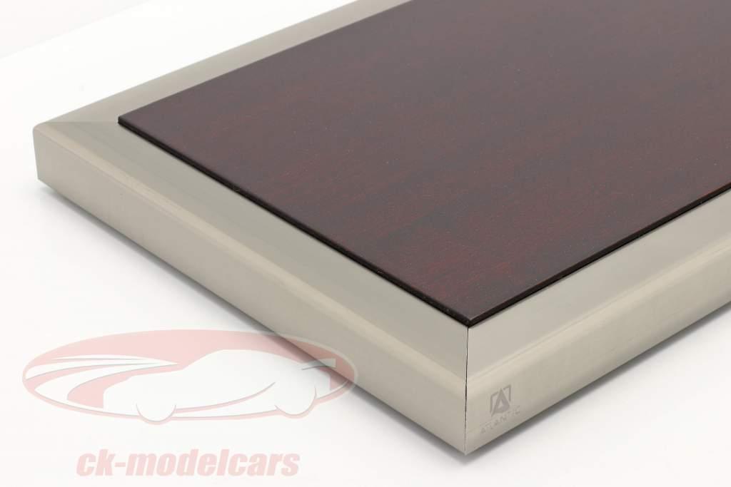 Alta qualità acrilico vetrina Goodwood Con Base in legno / metallo mogano / argento 1:18 Atlantic