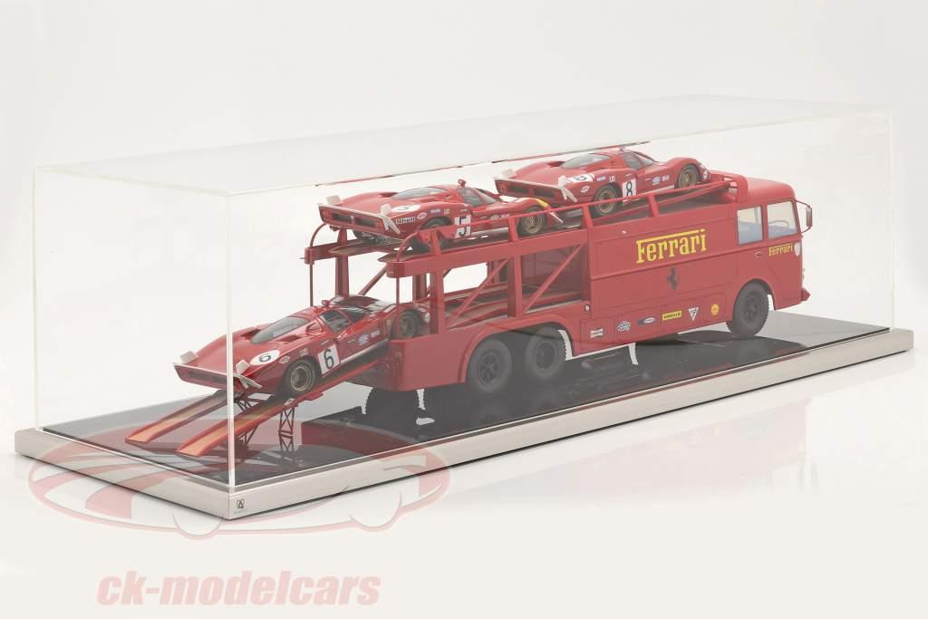 High quality Atlantic acrylic showcase 90 x 30 x 25 cm für Race Car transporter 1:18